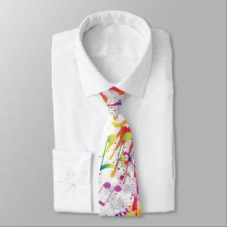 Heitre bunte helle Musiknoten-Krawatte Personalisierte Krawatte