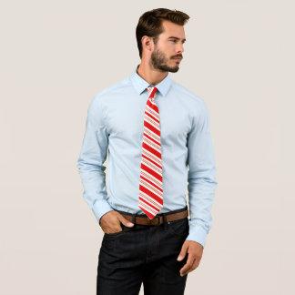Heitre Zuckerstange-Streifen in festlichem Rotem Bedruckte Krawatten