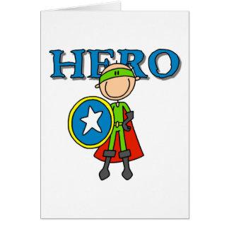 Held-Junge mit Schild Karte