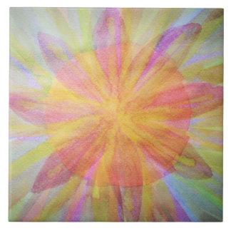 Hell, abstrakt, Kaleidoskop Watercolor Keramikfliese