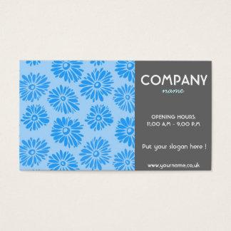 Hellblaue Blumen-Geschäfts-Karte Visitenkarten