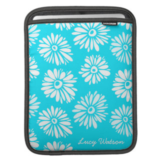 Hellblaue Blumen iPad Hülse iPad Sleeve