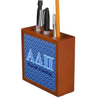 Hellblaue Buchstaben Alphadeltapus Stifthalter
