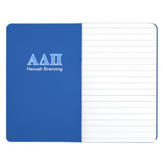 Hellblaue Buchstaben Alphadeltapus Taschennotizbuch