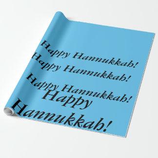 hellblaue glückliche Wörter der Hannukkah Geschenkpapier
