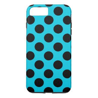 Hellblaue und schwarze Tupfen iPhone 8 Plus/7 Plus Hülle