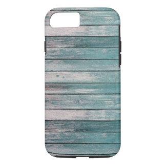 Hellblaues verblaßtes Holz iPhone 7 Hülle