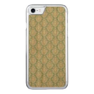 Hellblaues weißes Vintages Damast-Muster 1 Carved iPhone 7 Hülle