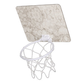 Hellbrauner Marmorblick Mini Basketball Netz