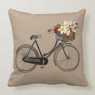 Hellbraunes Fahrrad-Blume   Throwkissen Kissen