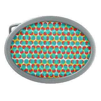 Helle blaue orange Gelb-Punkt-Oval-Schnalle Ovale Gürtelschnallen