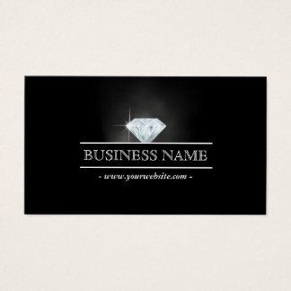 Helle Diamant-Schmuck-LuxusVisitenkarte Visitenkarte