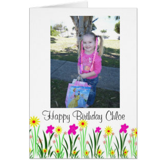 Helle Frühlings-Blumen kundenspezifisches Chloe Karte