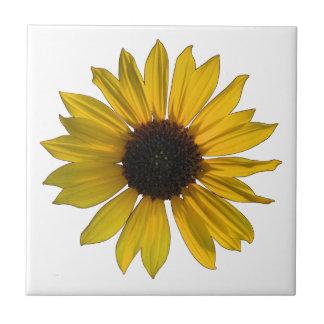 Helle gelbe Single-Sonnenblume Keramikfliese