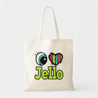 Helle Liebe Jello des Augen-Herz-I Leinentaschen