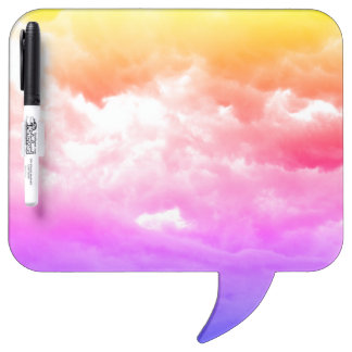 Helle mehrfarbige Wolke Memoboard