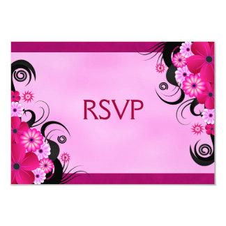 Helle pinkfarbene Blumenhochzeit UAWG Wartekarten 8,9 X 12,7 Cm Einladungskarte
