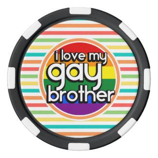 Helle Regenbogen-Streifen; Homosexueller Bruder Poker Chips Sets