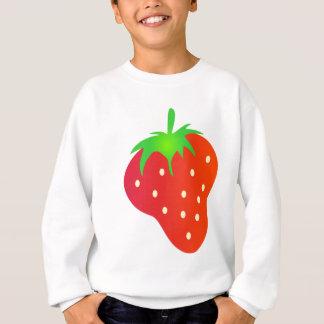 Helle rote Erdbeere mit Blätter Sweatshirt