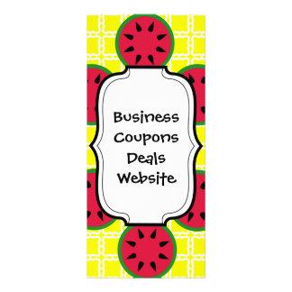 Helle Sommer-Picknick-Wassermelonen auf gelben Individuelle Werbe Karte