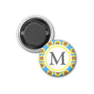 Helle Sonnenblumen Runder Magnet 3,2 Cm