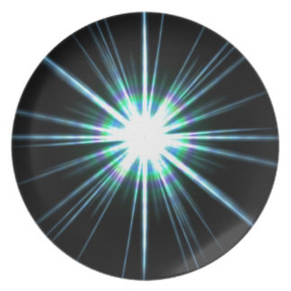 Helle Sonneneruptions-Explosion Melaminteller