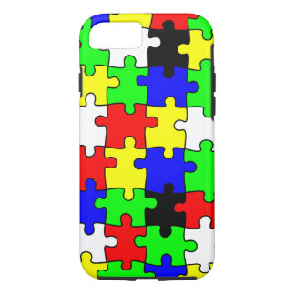 Helle u. bunte Puzzlespiel-Stücke iPhone 8/7 Hülle