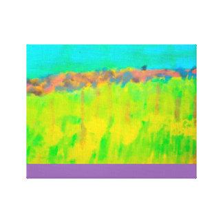 Helle und helle abstrakte Wasserfarbe Leinwand Druck