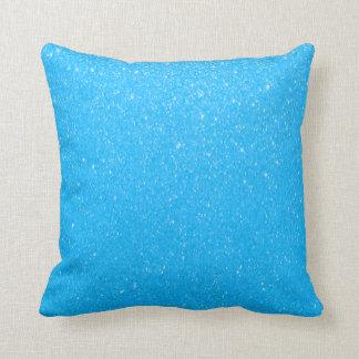 Heller Baby-Blau-Glittery Druck Zierkissen