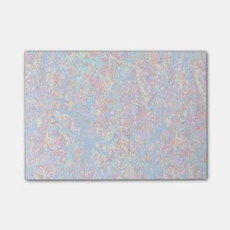 Heller blauer Farben-Spritzer abstrakt Post-it Klebezettel