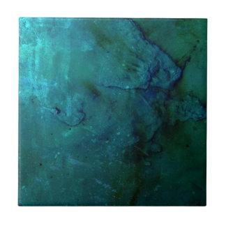 Heller bunter blaues Grün abstrakter Grungeentwurf Keramikfliese