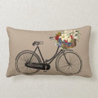 Heller Fahrrad-Blume   Throwkissen Taupe Lendenkissen
