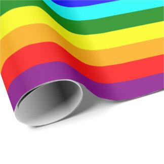 Heller klassischer Regenbogen Geschenkpapier