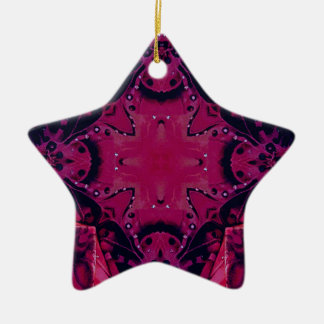 Heller Pop-magentarotes künstlerisches Neonmuster Keramik Ornament
