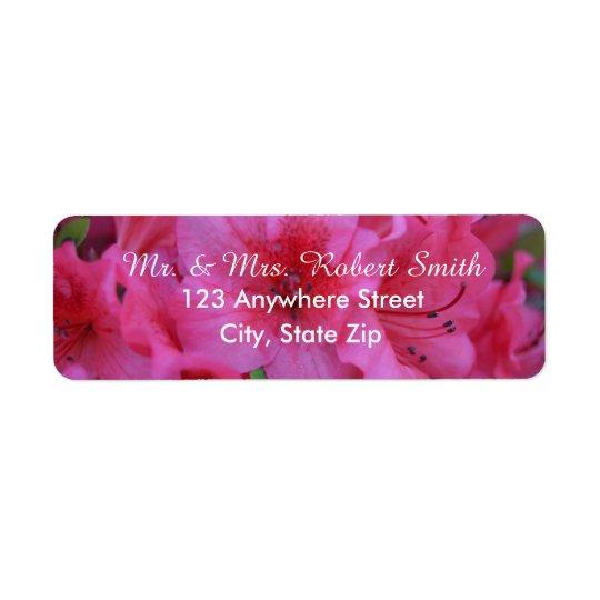 Heller rosa BlumenRücksendeadressen-Aufkleber