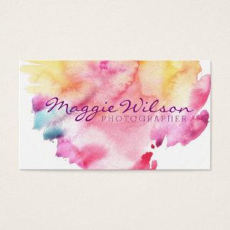 Helles Aquarell Visitenkarten