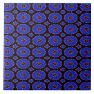 helles blaues extravagantes Kreismuster Große Quadratische Fliese