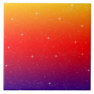 Helles buntes Regenbogenmuster mit Imitat-Glitzern Fliese