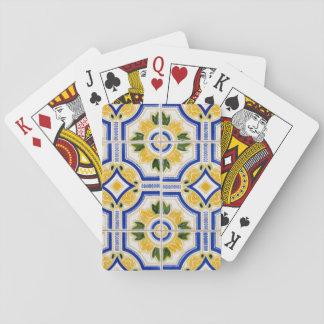 Helles Fliesenmuster, Portugal Spielkarten