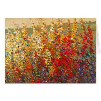 Helles Garten-Wandgemälde der Frühlings-Wildblumen Grußkarte