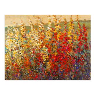 Helles Garten-Wandgemälde der Frühlings-Wildblumen Postkarte