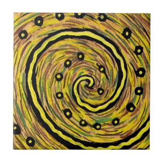 Helles gelbes modernes abstraktes keramikfliese
