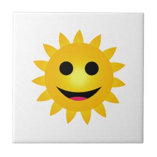 Helles gelbes Sonnelächeln Keramikfliese