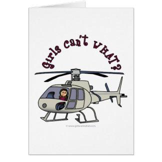 Helles Hubschrauber-Pilotmädchen Karte
