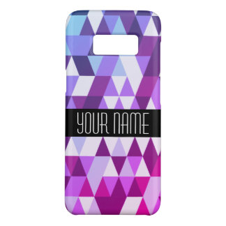 Helles lila blaues Dreieck-geometrisches Muster Case-Mate Samsung Galaxy S8 Hülle