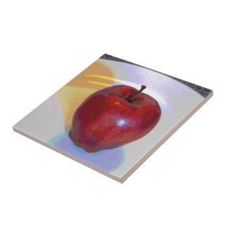 Helles rotes Apple Fliese