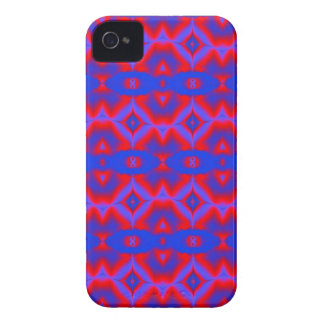 helles rotes blaues Fraktalmuster iPhone 4 Case-Mate Hülle