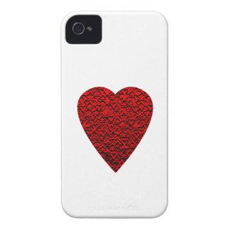Helles rotes Herz-Bild iPhone 4 Etuis