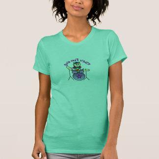 Helles Schlagzeuger-Mädchen T-Shirt