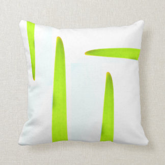 Hellgrüner Gras-Minimalismus zeichnet Kissen